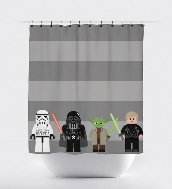 shower curtain, starwars shower curtain, jedi shower curtain, shower ...