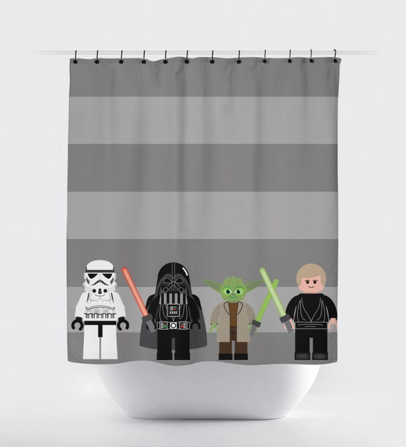 items similar to star wars shower curtain starwars shower curtain jedi shower curtain shower. Black Bedroom Furniture Sets. Home Design Ideas