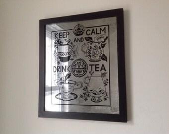 Drink Tea 14 1/2 x 13 1/2, 3/25/2015