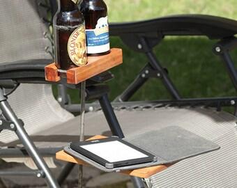 beer bottle wine glass holder for outdoor, WITH ADJUSTABLE SHELF, , Mens Gift, Birthday Gift, For Him, for Her, gift