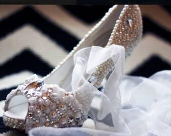 Pearl & Swarovski Crystal shoes