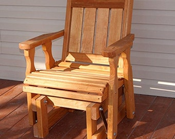 Amish Heavy Duty 600 Lb Mission Pressure Treated Glider Chair