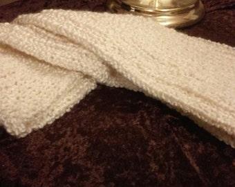 """Homespun extra long (45-60"""") woven scarf"""