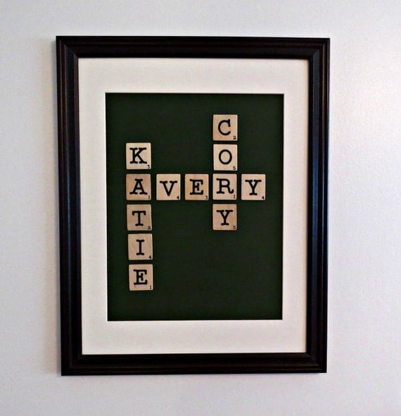 Scrabble Tile Family Name Frame By Amandascreations05 On Etsy