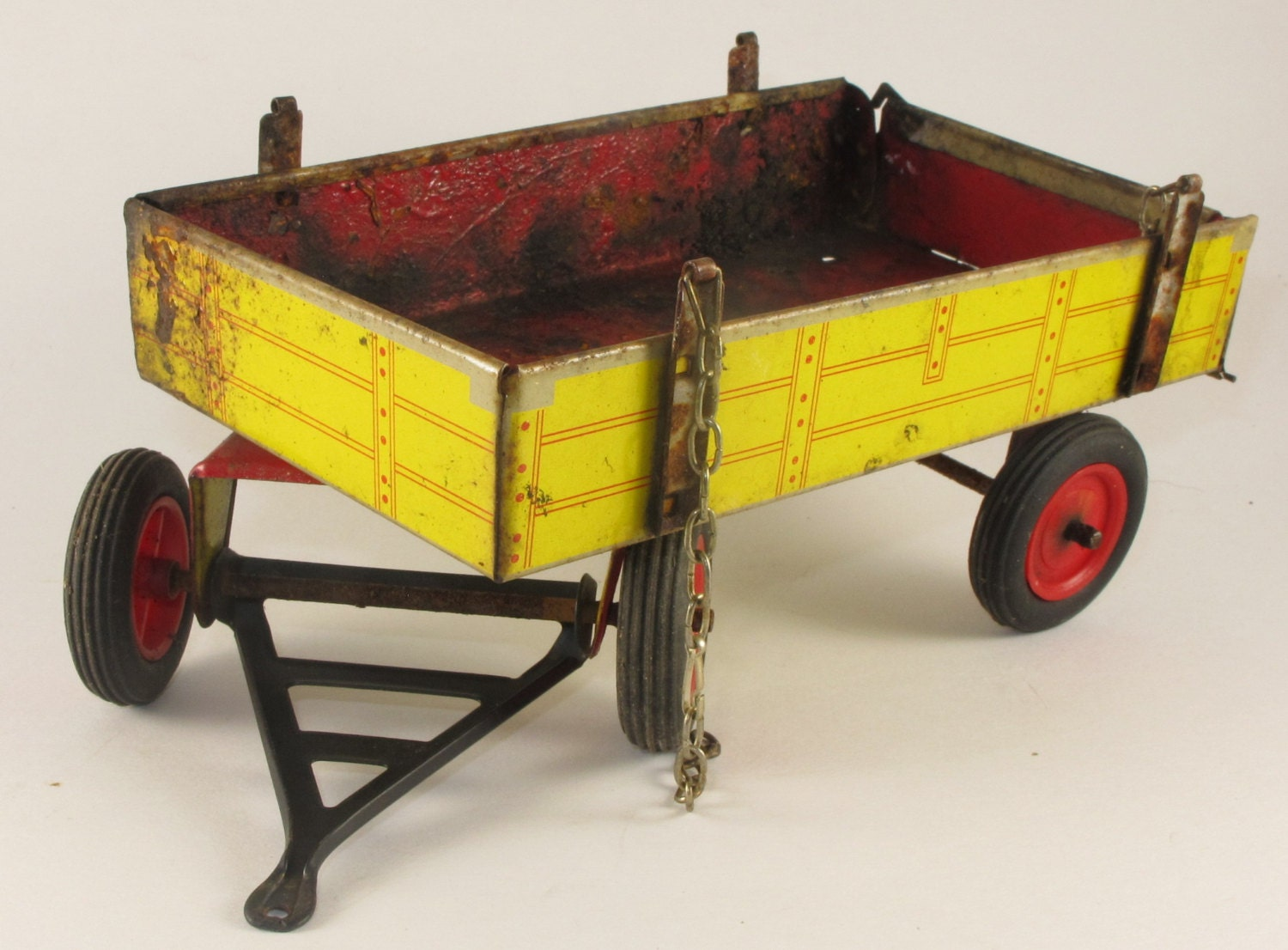 Wagons For Toys : Vintage metal toy wagon