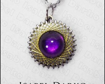 Steampunk watch gear necklace
