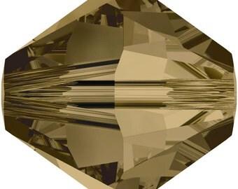 Swarovski Crystal Bicone Beads 5328 -3mm 4mm 5mm 6mm 8mm - Crystal Bronze Shade