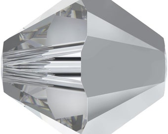 Swarovski Crystal Bicone Beads 5328 -3mm 4mm 5mm 6mm - Crystal Comet Argent Light