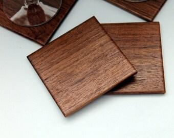 Walnut Wood Coasters Set of 4