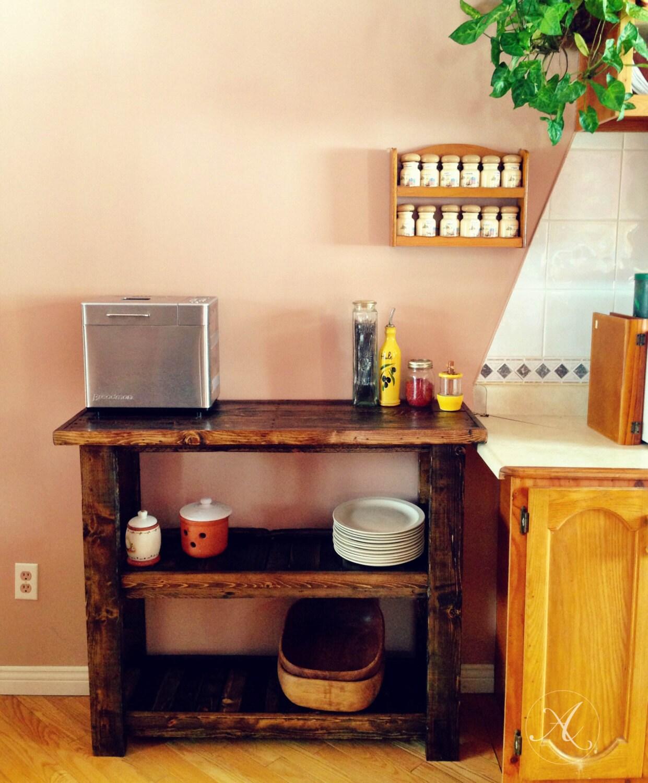 Ilot de cuisine en bois de palette desserte cuisine meuble for Desserte ilot cuisine
