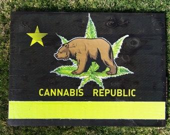 Cannabis Republic Wood Art