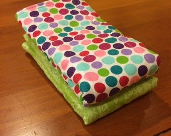 Burp Cloth, 6 Ply Cloth Diapers, Set of 2