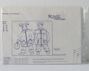 Childs Coat Pattern, Children Jacket Sewing Pattern, Vintage Children Multisize Pattern Sizes 68-104