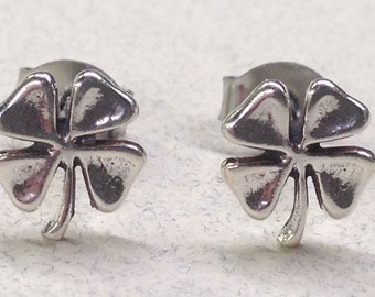Sterling Silver Four Leaf Clover Studs ( New Lower Price )