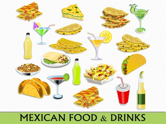 food mexican clipart clip mexico drinks graphic taco drawings cliparts margarita scrapbook drink vector transparent digital authentic commercial deer items