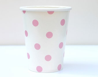Pink Polka Dot Cups Pack of 12