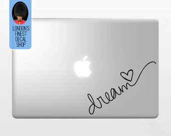 Dream   - Macbook Vinyl Decal Sticker / Laptop Decal / iPad Sticker