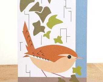 Jenny wren greetings card