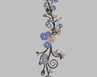Flowers Machine Embroidery Design digital INSTANT DOWNLOAD