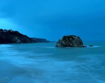 Coastal Photograph, Coastal, Wall art, Sea scape Photo, Sea photograph, Sea photo in Wales, Sea Wall Decor, Wales. Welsh photography
