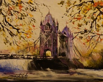 London Tower Bridge in the autumn