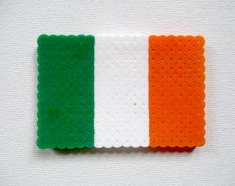 Irish Flag Perler Bead Magnet