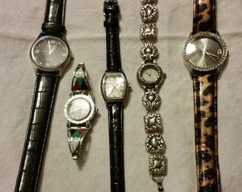 Destash Craft Upcycle Jewelry Watch Parts Mixed Lot - AS IS