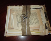 Torn Pages Bundle Ephemera Junk Journal Smash Book Paper Sears Catalog Dictionary Maps Primer Text Music Novel Recipe Pages HUGE MIXED LOT
