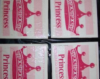 Napkin Drink Coasters - Princess