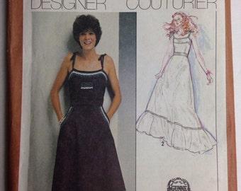Designer Couturier Sun Dress Vtg Pattern 9335 S Sz 10 or 12 Gunne Sax Princess Seamed