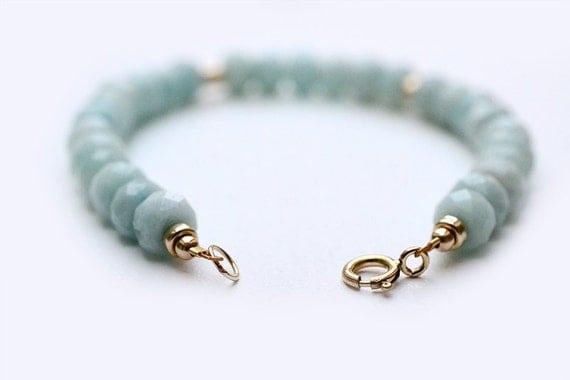 amazonite bracelet december birthstone bracelet 14k