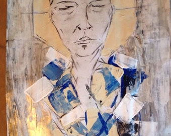 "Abstrakt-""Thinking in time"" - original - acryl-mixed media"