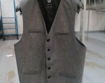 Tweed Vests - Charcoal Grey
