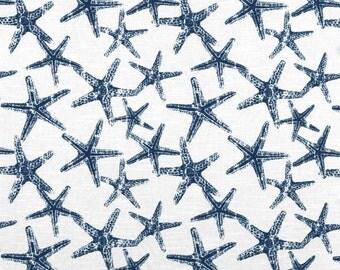 Sea Friends Oxford Blue Starfish Nautical by Premier Prints Fabric Yardage