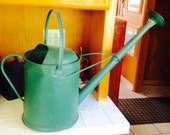 Vintage, green, green vintage, gardening, garden tools, mom gift, wife gift, watering can, green watering can