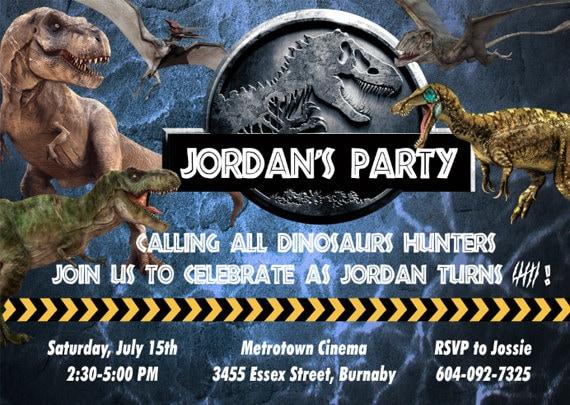 Jurassic Park Party Invitations futurecliminfo