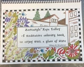 Zentagle Napa Valley - A Hand-Drawn Meditative Coloring Book to Enjoy with a Glass of Wine