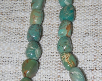 Beautiful Handmade Turquoise Stone Necklace 18""