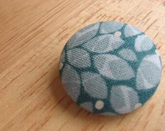 Pretty fabric covered button brooch