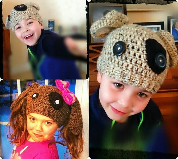 Ponytail Hat Pattern Crochet Pattern Puppy Ponytail