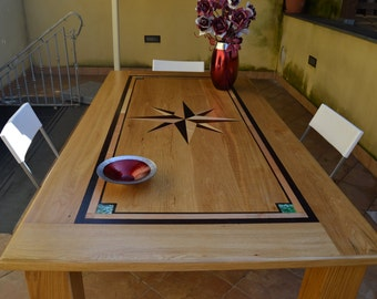Craft table Oak solid wood
