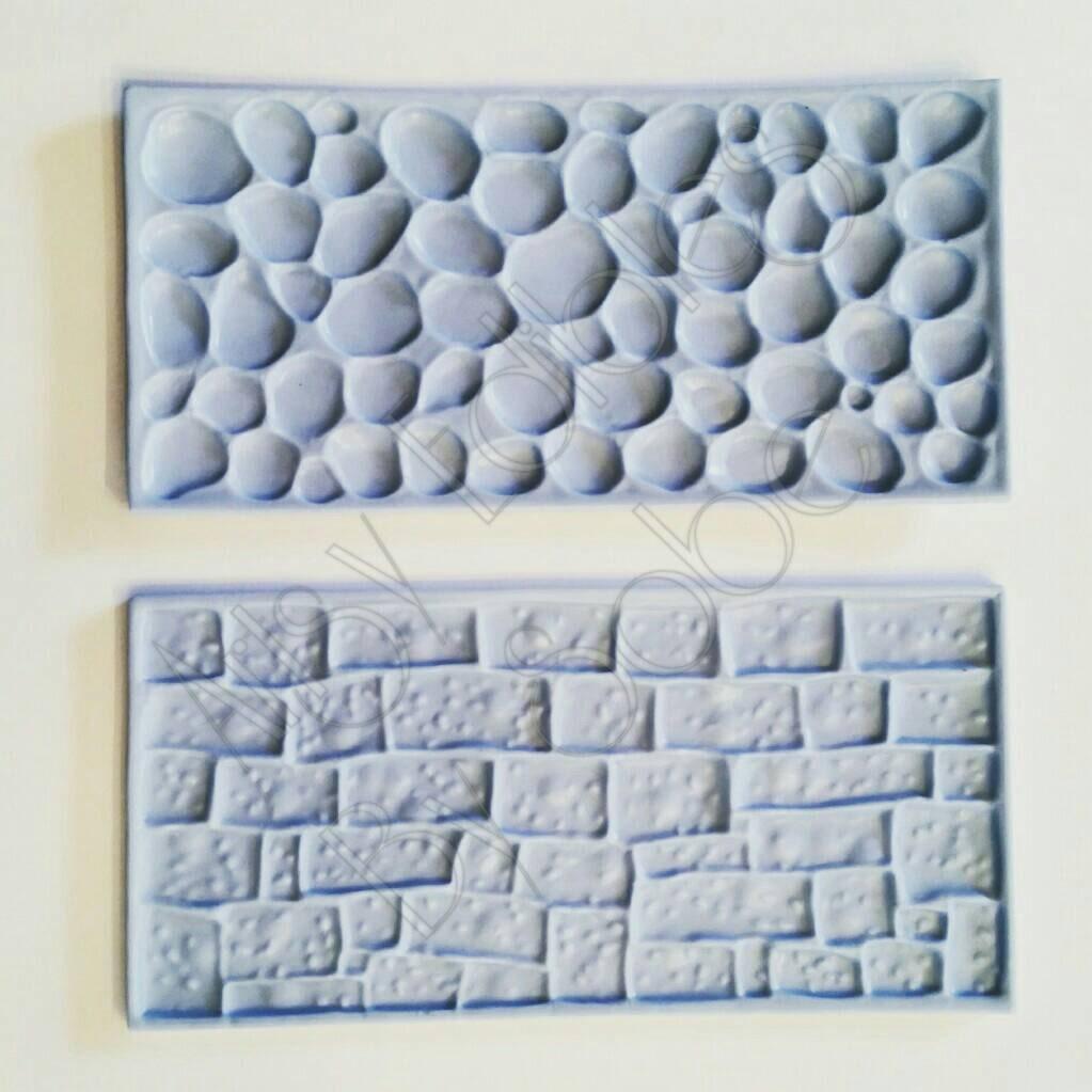 Fondant And Gumpaste Impression Mat Coblestone Brick