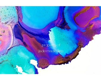 blue, aqua + turquoise print | available in A3 to A0 | ink art | giclee fine art print