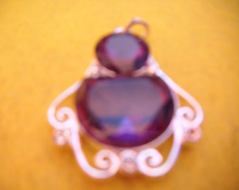 Purple & Silver Pendant