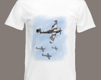 Hawker Hurricane T-Shirt British WW2 fighter aircraft Battle of Britain in all sizes