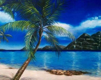 Tahiti Afternoon Print - Painting by Maya Spielman Artist - *various sizes available*