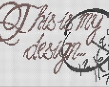 "Hannibal ""This is My Design"" pattern cross stitch"