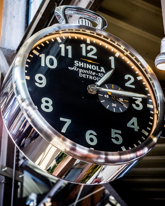 8x10 shinola clock in detroit 39 s eastern market photo for Mitchell s fish market pittsburgh
