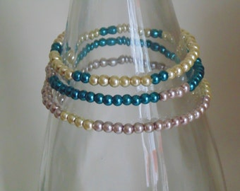 Beautiful Glass Peal Stretch Bracelets