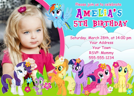 Invitation My Little Pony was great invitation example